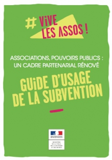 "PUBLICATION DU ""GUIDE D'USAGE DE LA SUBVENTION"""
