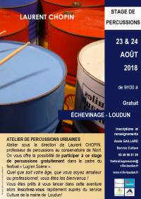STAGE DE PERCUSSIONS URBAINES